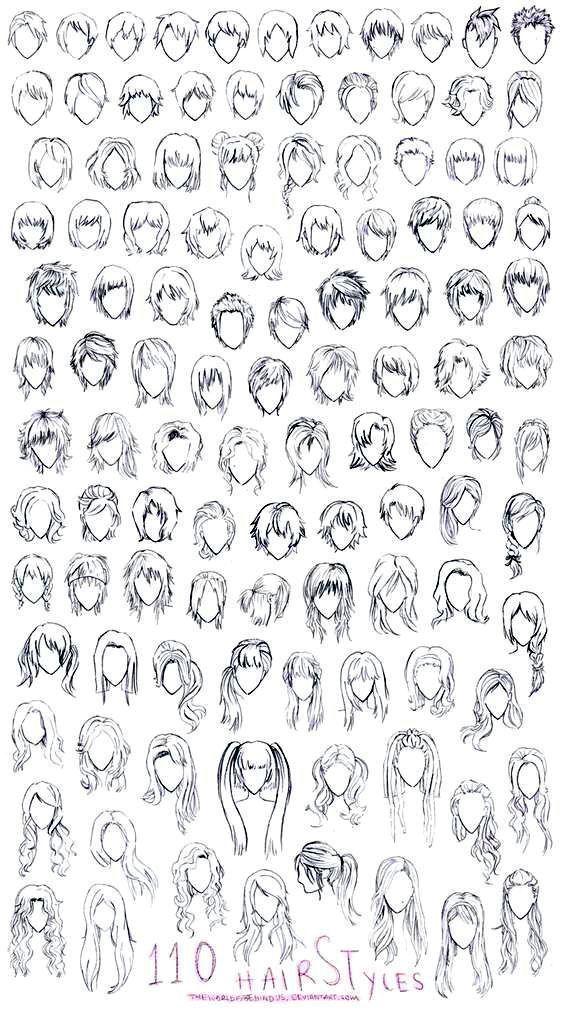 Drawings Manga Anime Hair 110 Designs To Improve Your Design.  #a  | Anime Art? …