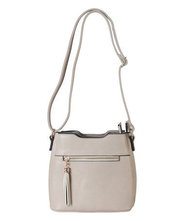 fca7763b21 This Light Khaki Diophy Front Zipper Simple Crossbody Bag is perfect!   zulilyfinds