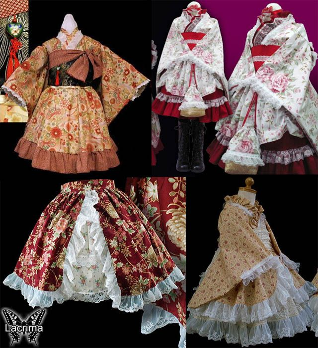 4ffbd82c5 WA LOLITA: TRADITIONAL JAPANESE KIMONO DRESSES BY LACRIMA. | Cosplay ...