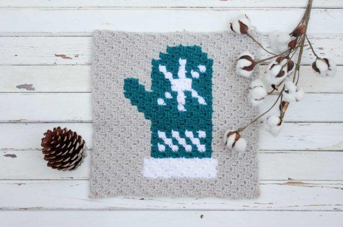 Mitten C2C Crochet Afghan Graph – Free Pattern   Tejido crochet ...