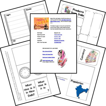 India Country Study & Lapbook | India | Pinterest | Asien