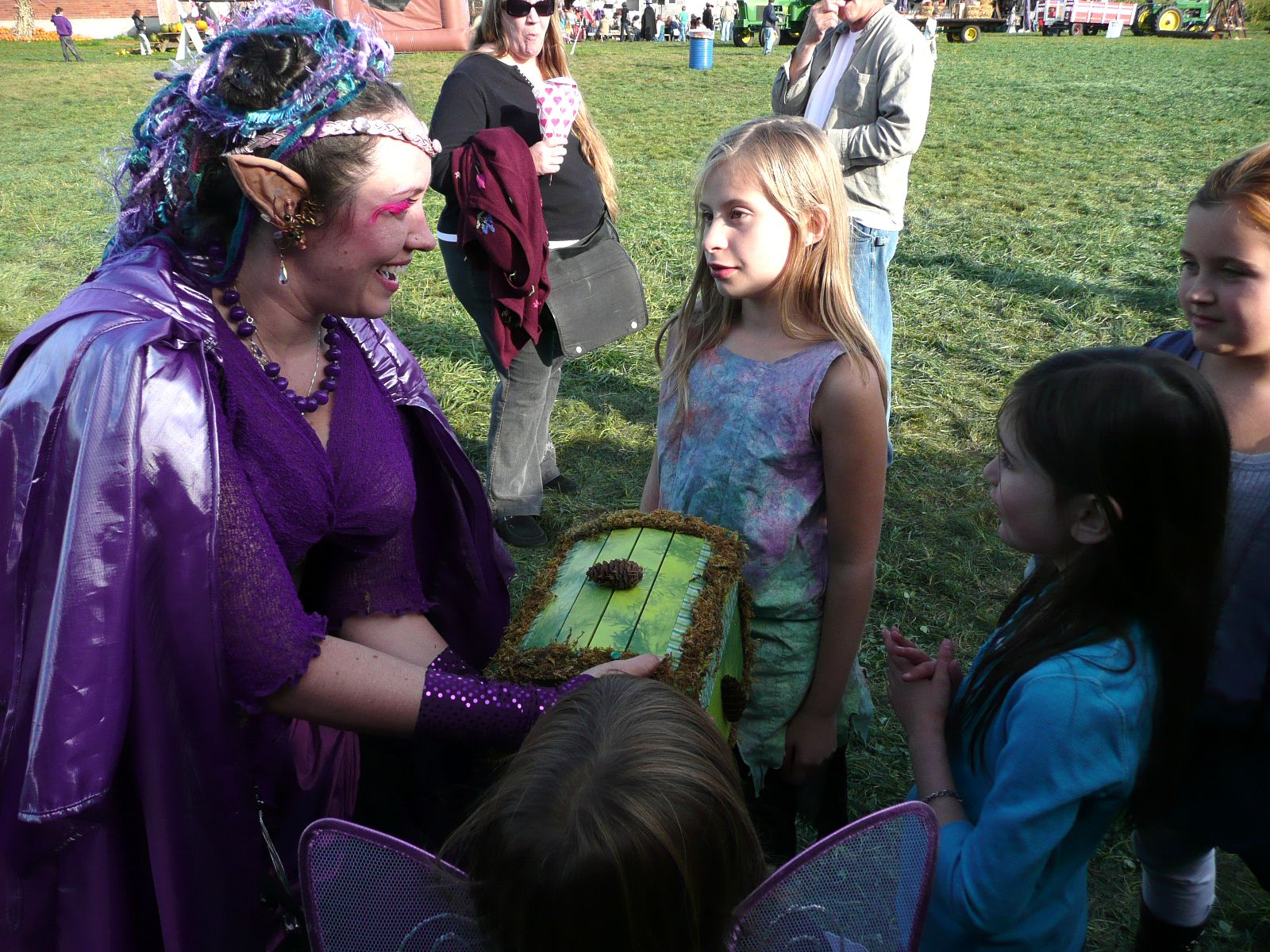 (9) Meanwhile, a host of spritelings amongst faerie court quite capably flustered and befuddled the distracted pirates.  They found the magic acorn and put stored it safely in Princess Lolly's dross box...