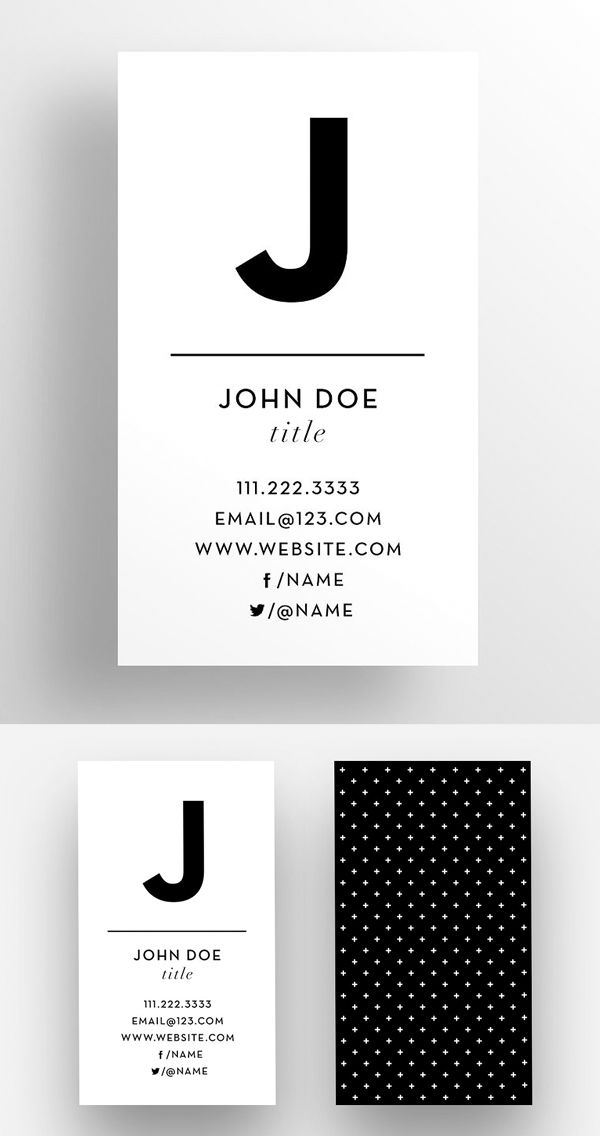 The Initial  Business Card Template  Business Cards