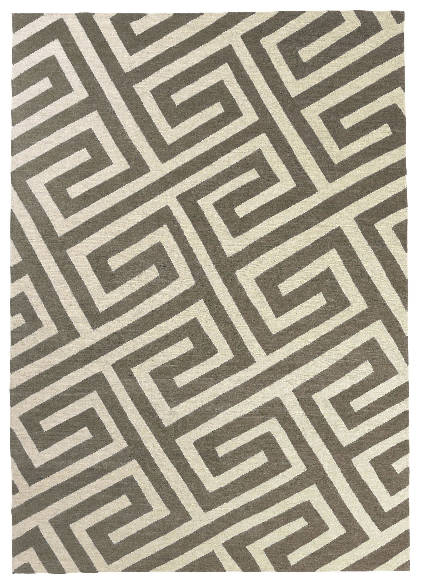 Hand Knotted Wool Rug Key Brown Rug Company Contemporary Area Rugs Rugs Uk