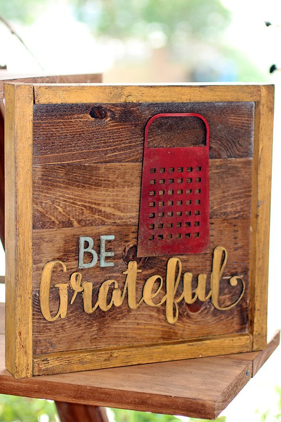 Be Grateful Kitchen Box Sign Products In 2019 Box Signs