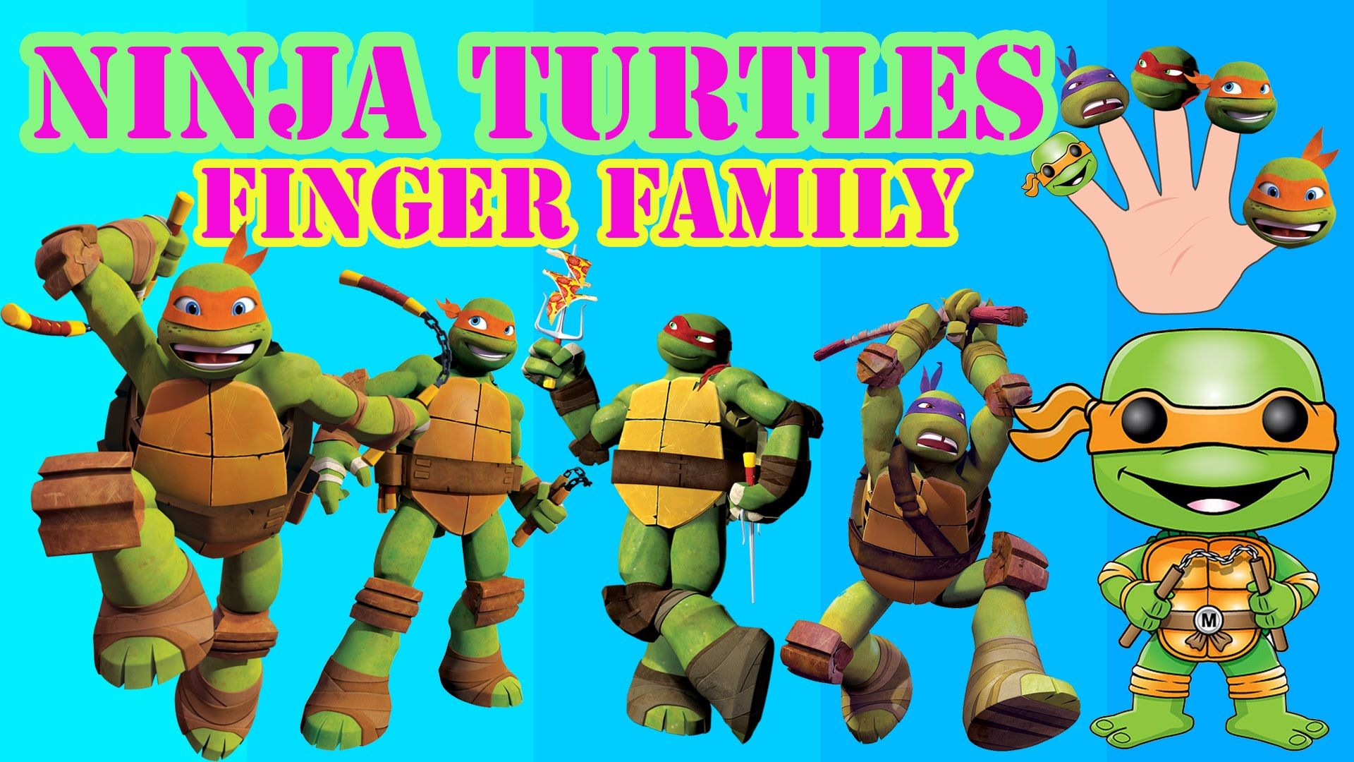 Ninja Turtles Cartoon Finger Family Nursery Rhyme For Kids