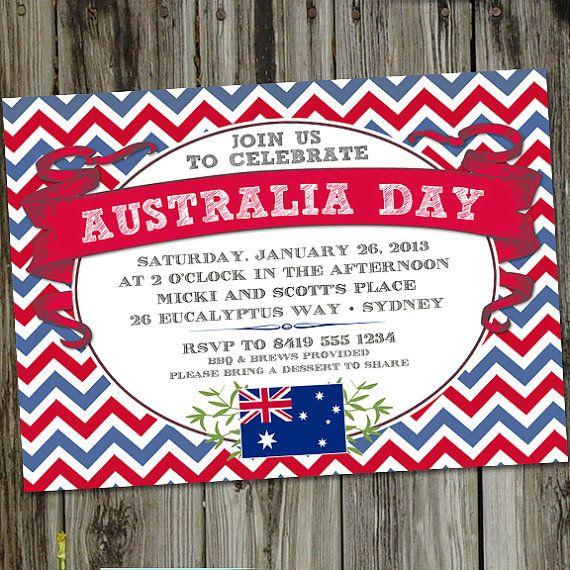 #AustraliaDayOnboard Australia Day PRINTABLE Party