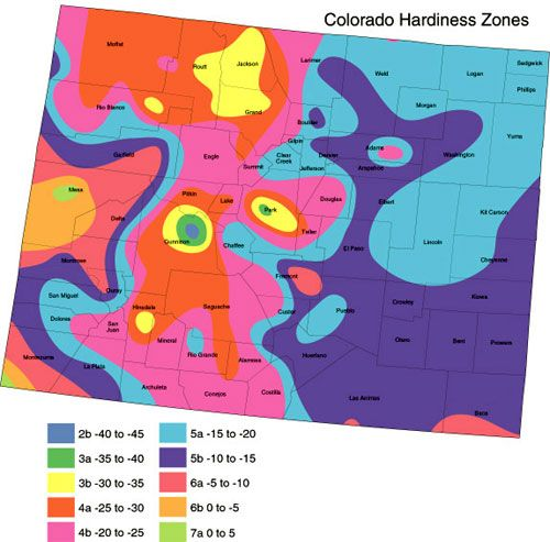 Colorado Zone Map Plant Zones Plant Hardiness Zone Map