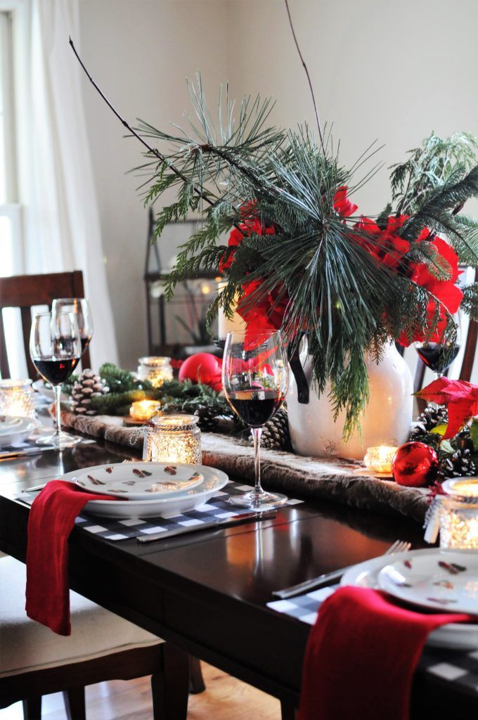 rustic christmas table how to set a table holiday table decor pottery barn table table decorating idea