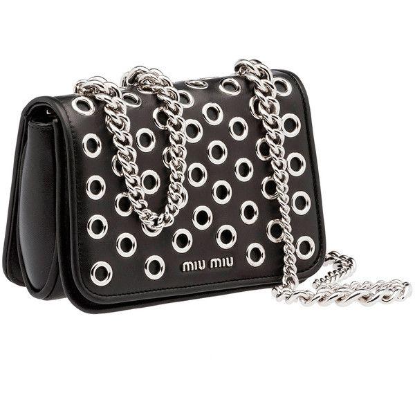 Miu Miu Shoulder Bag (21.606.025 IDR) ❤ liked on Polyvore featuring bags, handbags, shoulder bags, pattern purse, chain purse, shoulder bag purse, shoulder bag handbag and ombre handbag