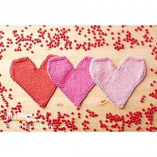 Be Mine Knit Dishcloth pattern by Lily / Sugar'n Cream