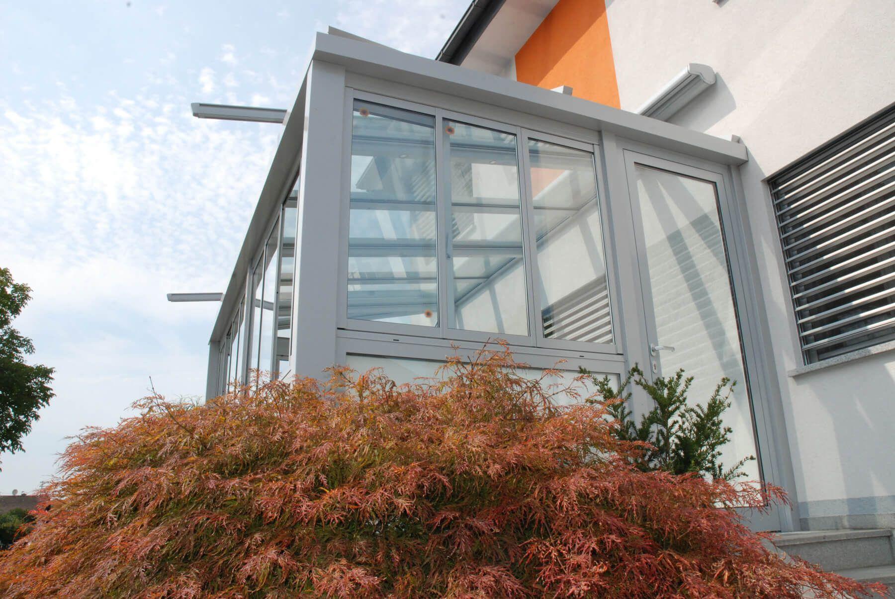 Faltfenster Wintergarten ~ Wintergarten mit eingangstüre und faltfenster
