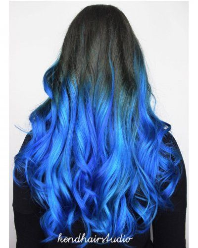 Blue ombre and balayage hair color blue highlights blue hair blue ombre and balayage hair color blue highlights pmusecretfo Choice Image