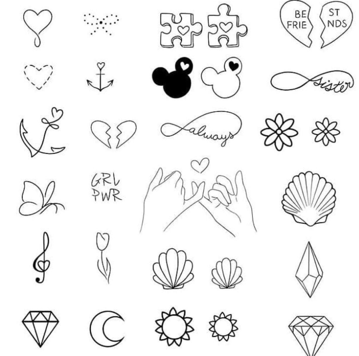 Tatuagem In 2020 Doodle Tattoo Sharpie Tattoos Bff Tattoos