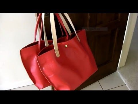 4e8045c9efe1 ▷ How I Made 2 leather Tote Bags  a step-by-step tutorial - YouTube ...
