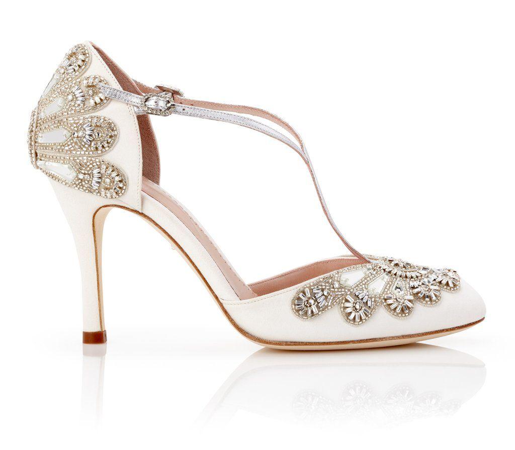 Cecile Ivory Wedding Shoes Cinderella Wedding Shoes Designer