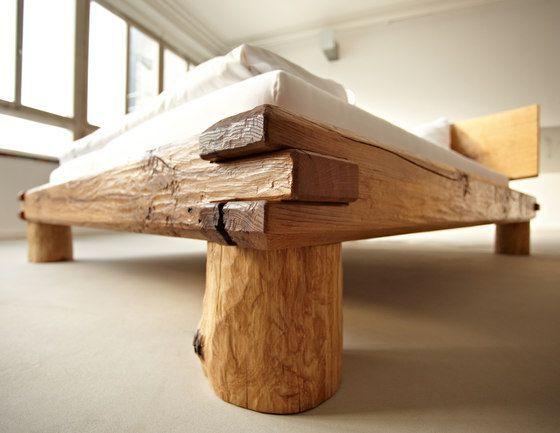 Doppelbetten | Betten und Schlafzimmermöbel | Eiche Balkenbett. Probieren Sie es aus auf ...  #balkenbett #betten #doppelbetten #eiche #probieren #schlafzimmermobel #rusticbedroomfurniture