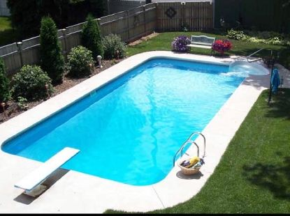 Hydra 16' x 32' Rectangle Steel Wall Inground Pool 2