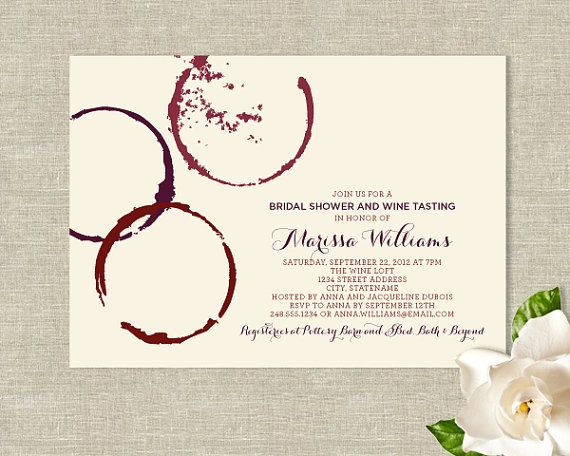 Wine Glass Stains Theme Bridal Shower Invitations Modern Etsy Bridal Shower Wine Theme Bridal Shower Wine Wine Themed Bridal Shower Invitations