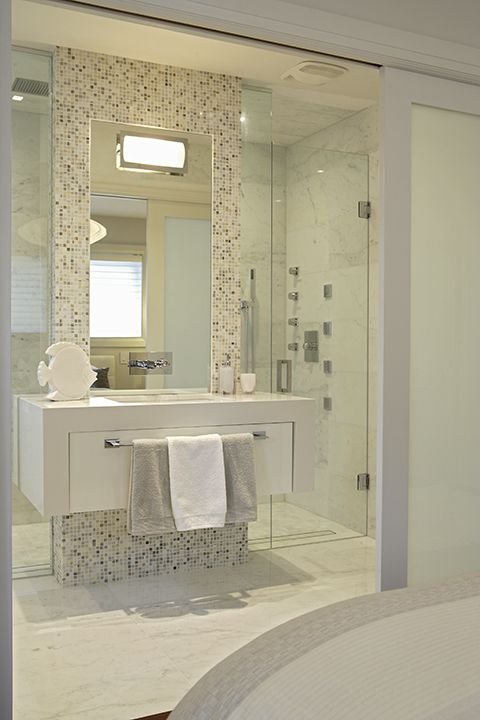 Contemporary master ensuite bathroom by regina sturrock for Bathroom decor regina