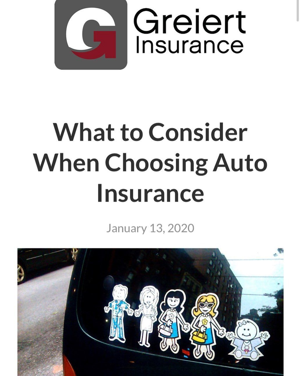What should you consider when choosing auto insurance