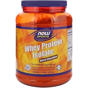 08fbc7a6a26 Now Foods, Sports, Whey Protein Isolate, Dutch Chocolate, 1.8 lbs (816 g) -  iHerb.com