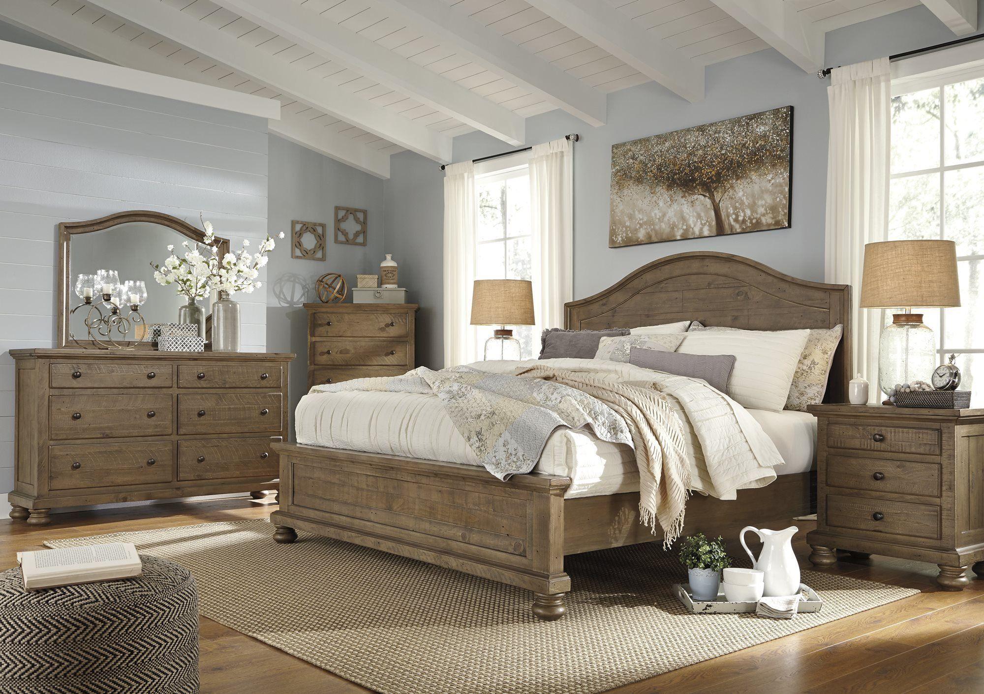 Ashley Trishley 4pc Bedroom Set Queen Panel Bed One Nightstand