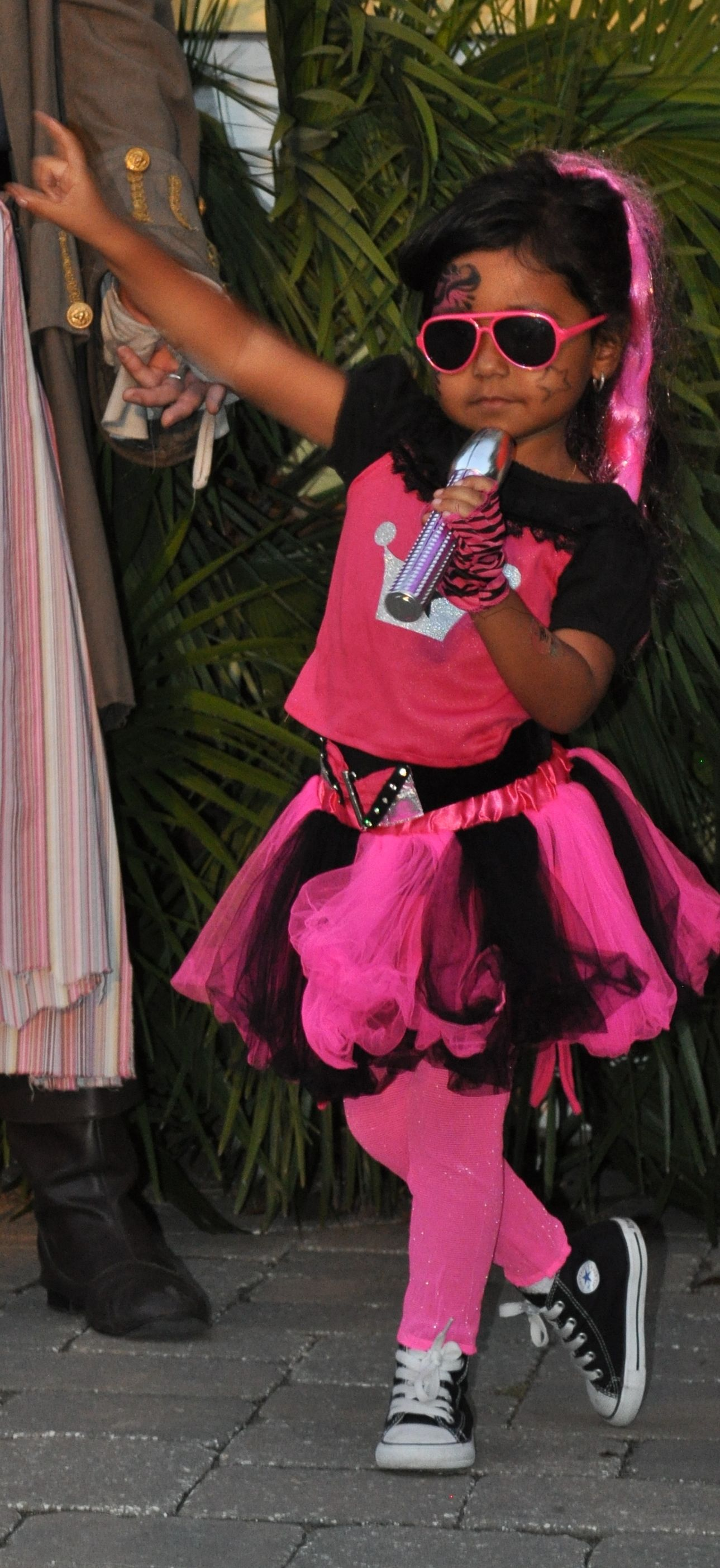 This little pop star showed a lot of personality during the costume contest at Boo at the Zoo!