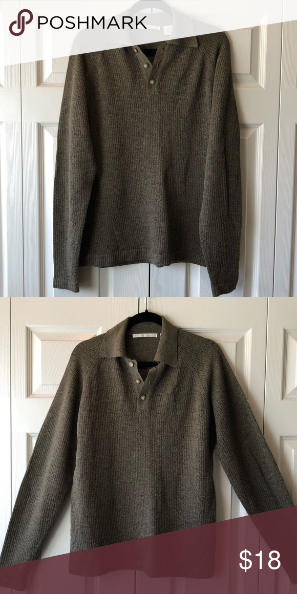 Polo Collar Sweater Polo Collar Sweater with Buttons-lightweight-VGC never  Worn Perry Ellis 5e7564346
