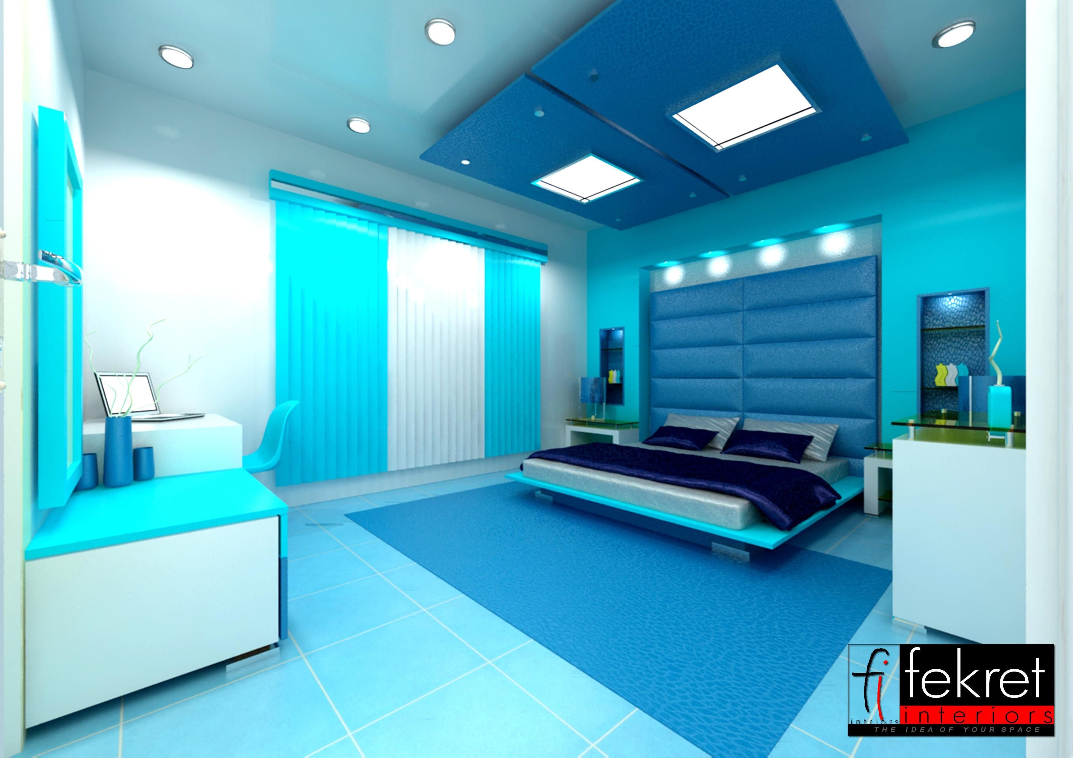 Cool bedroom themes home decor Modern bedroom blue