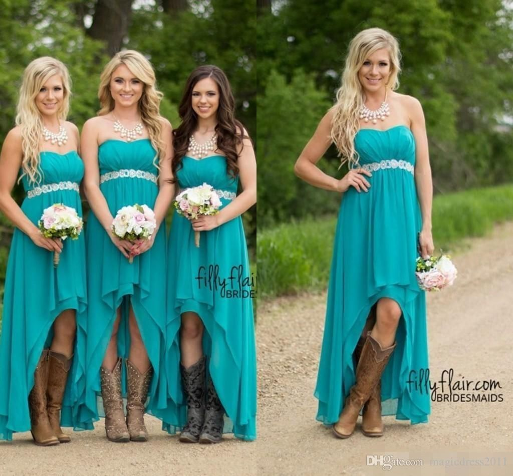 Country bridesmaid dresses 2016 cheap teal turquoise chiffon bridesmaid country bridesmaid dresses 2016 cheap teal turquoise ombrellifo Image collections