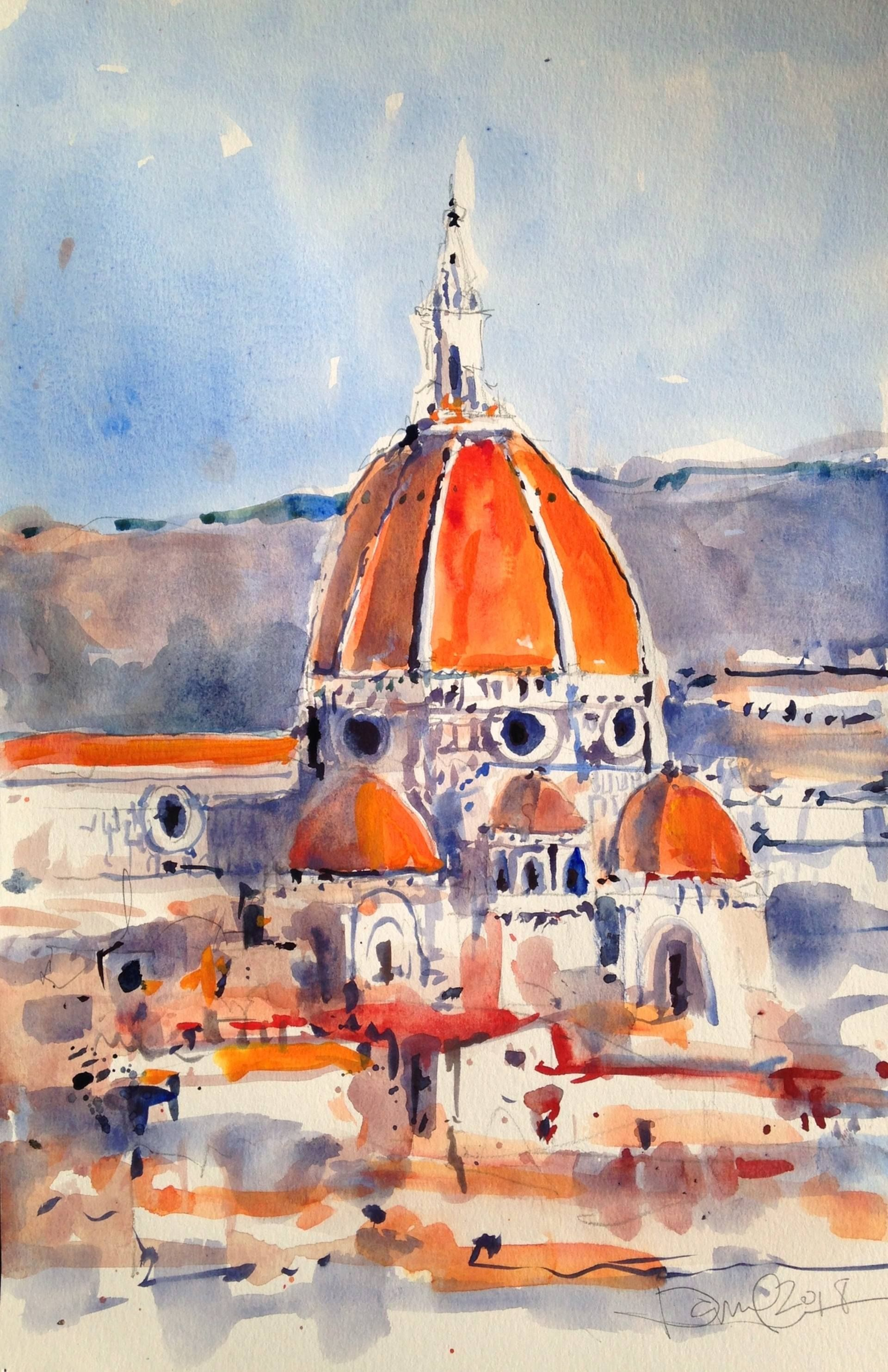 Duomo Firenze Painting Architecture Painting Duomo