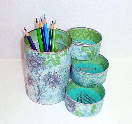 Ideas para reciclar y decorar las latas que tenemos en for Manualidades para decorar la casa