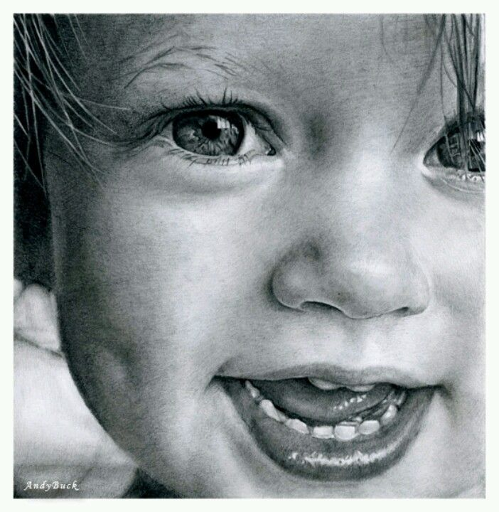 """Dimples"" by Artist, Andy Buck using pencil.."