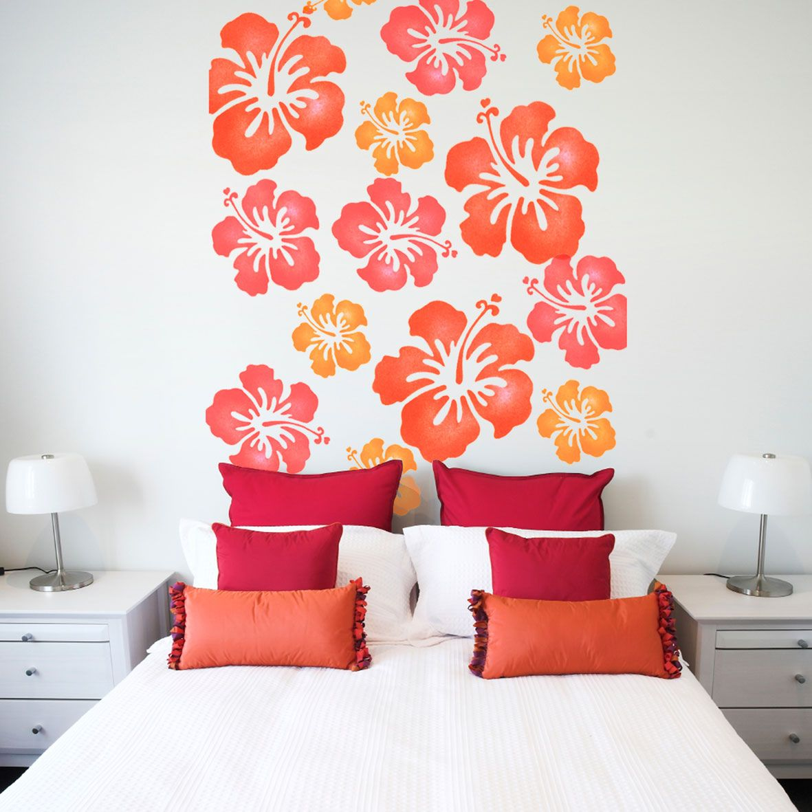 Lovely Stencils   Funky Flowers Stencil   Reusable Wall Stencil Is Perfect For  Decorating A Childs Bedroom Or Nursery. See More Childrens Wall Stencil  Designs At ...