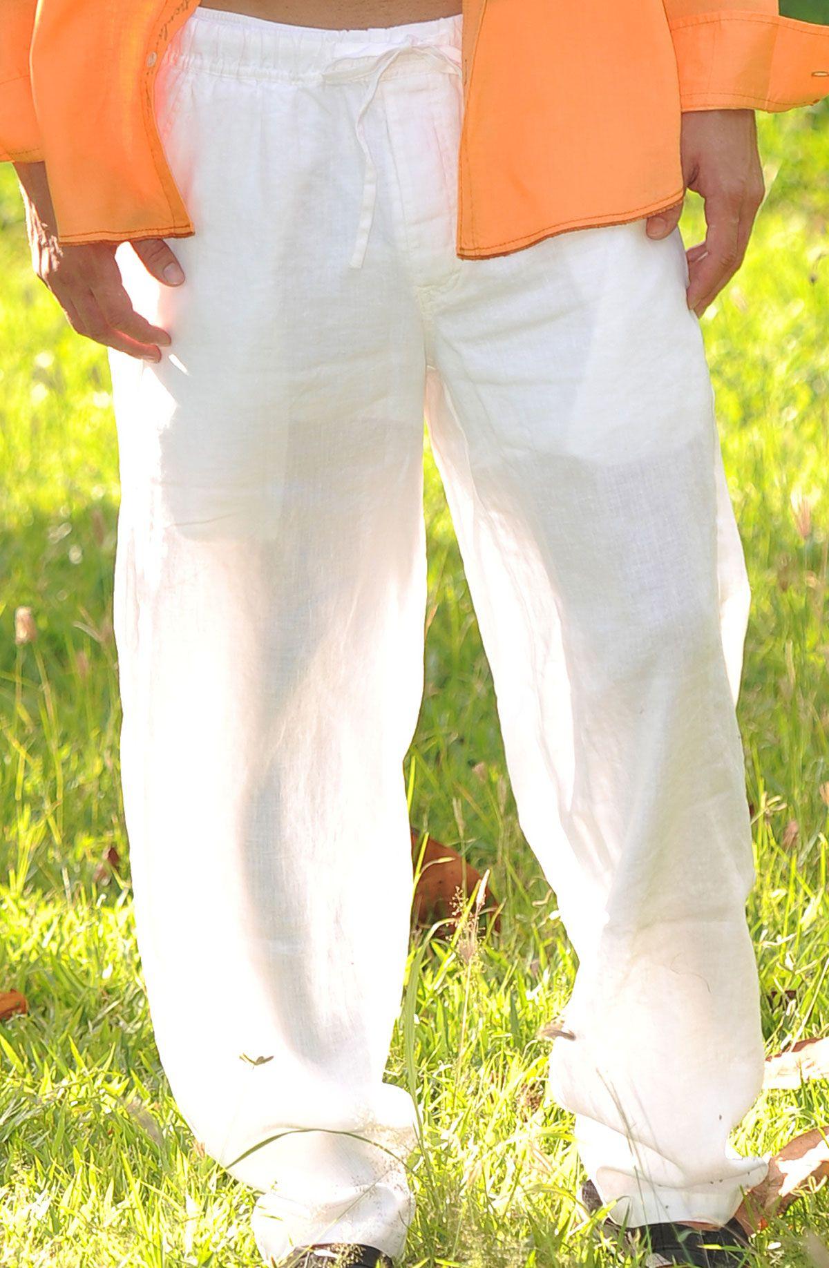 mens linen pants canada - Pi Pants