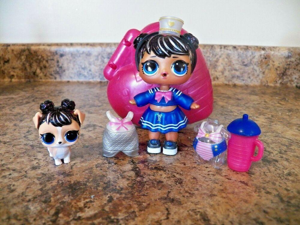 2 Pet Lol Surprise Bubbly Surprise Lot Sailor QT Captain BB Puppy Kitty toy gift