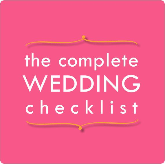 The Complete Wedding Checklist Is A Page  X  Printable
