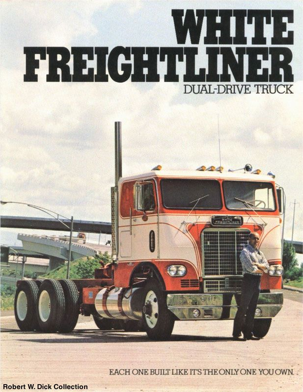 Brochures daycab tractor. single drive cabover White Freightliner