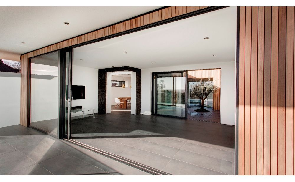 premium sliding doors on Aluk Home Gallery Home Styles Exterior Architecture Garage Into Living Space