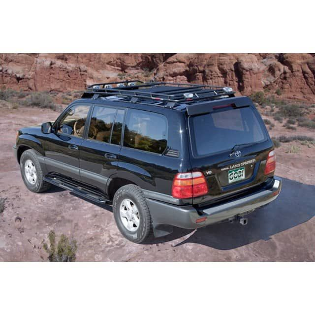 Gobi Toyota Land Cruiser 100 Series Stealth Roof Rack Toyota Land Cruiser 1998 2007 Free Ladder Free Toyota Land Cruiser 100 Land Cruiser Toyota Land Cruiser
