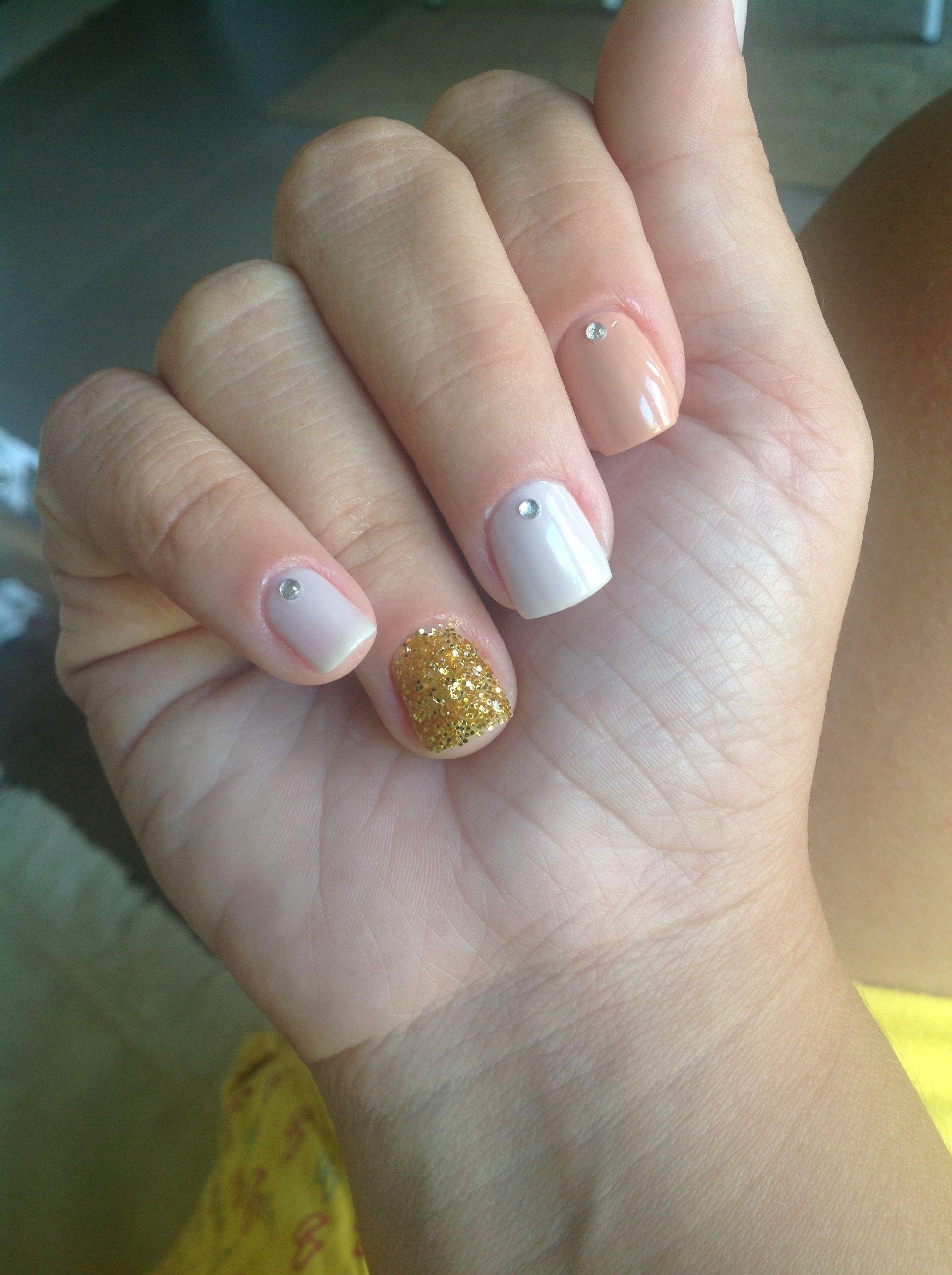 Glitter dourado #nails