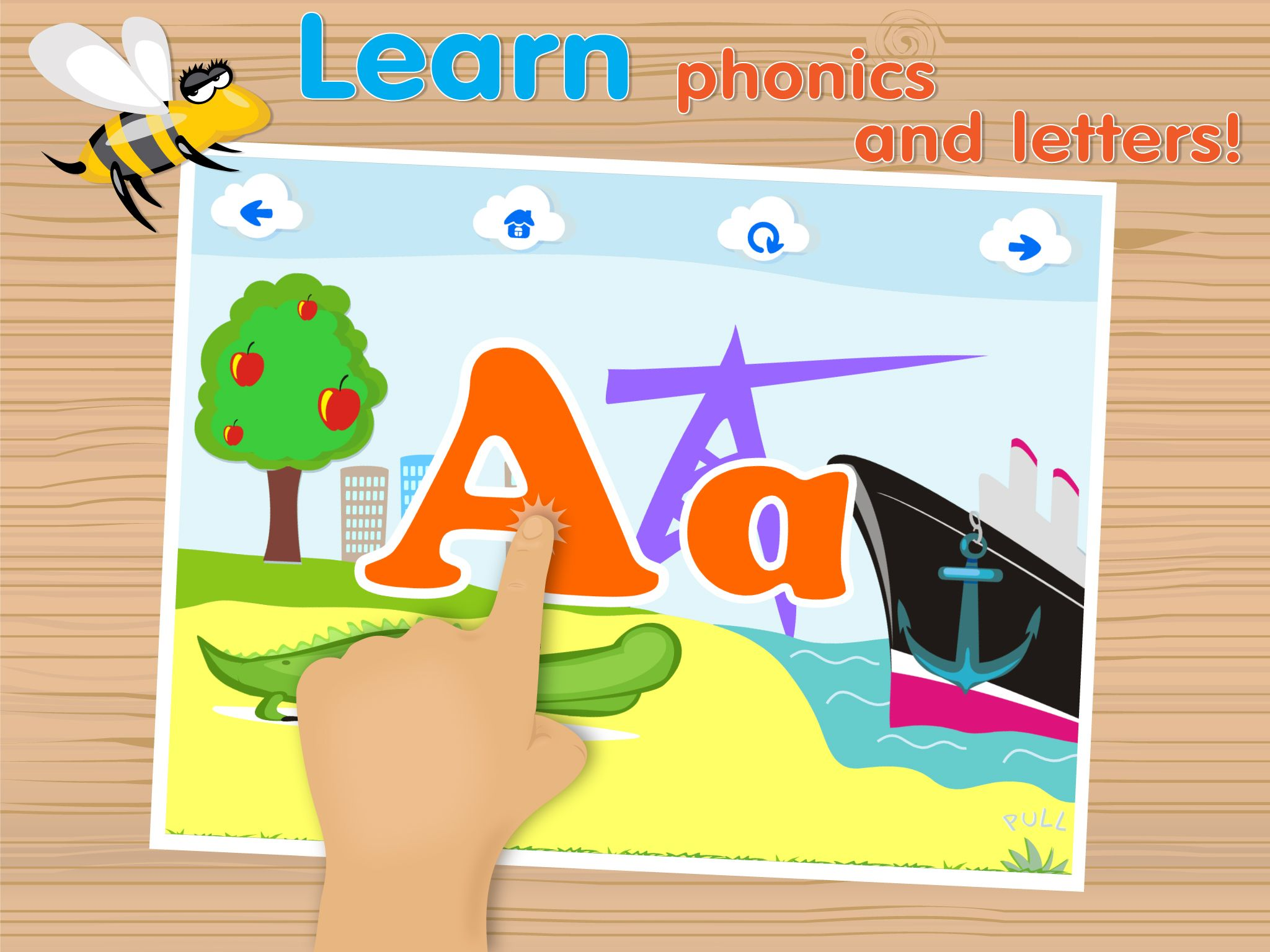 new screenshots for our ABC teaching app Educational