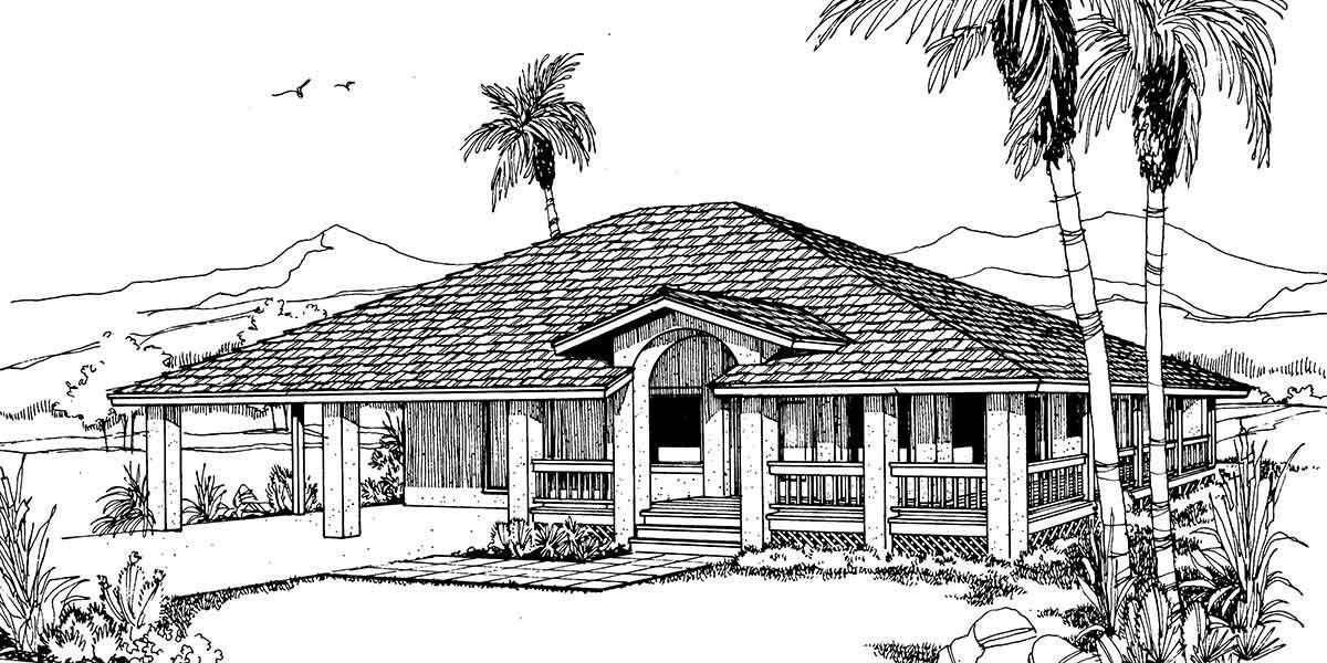Single Story Home Plans with Wrap Around Porches Unique