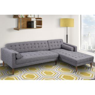 mid century modern sectionals you ll love wayfair the elaine rh pinterest com