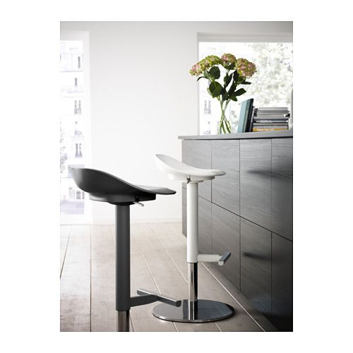 JANINGE Bar stool - white | Bar stools, Ikea bar, Ikea barstools