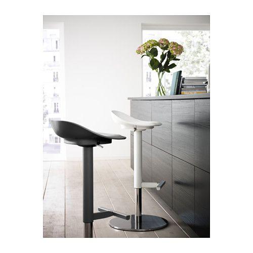 Janinge bar stool white bar stools and bar stools for Taburete bar ikea