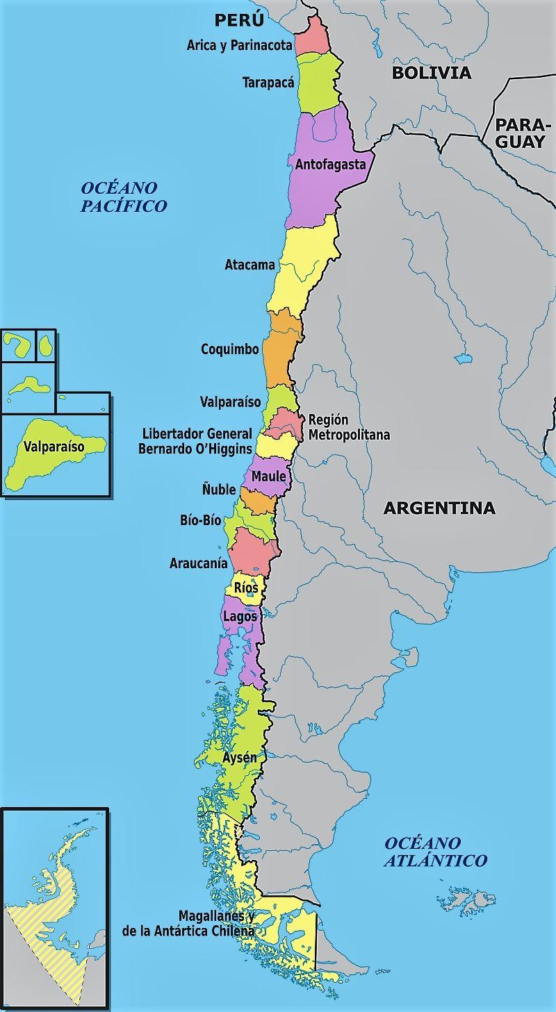 Informacion E Imagenes Con Mapas De Chile Politico Fisico Y Para