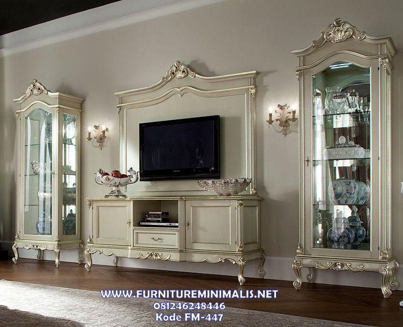 Model Bufet Tv Minimalis Klasik Mewah Terbaru, Set Tempat Tv Murah ...
