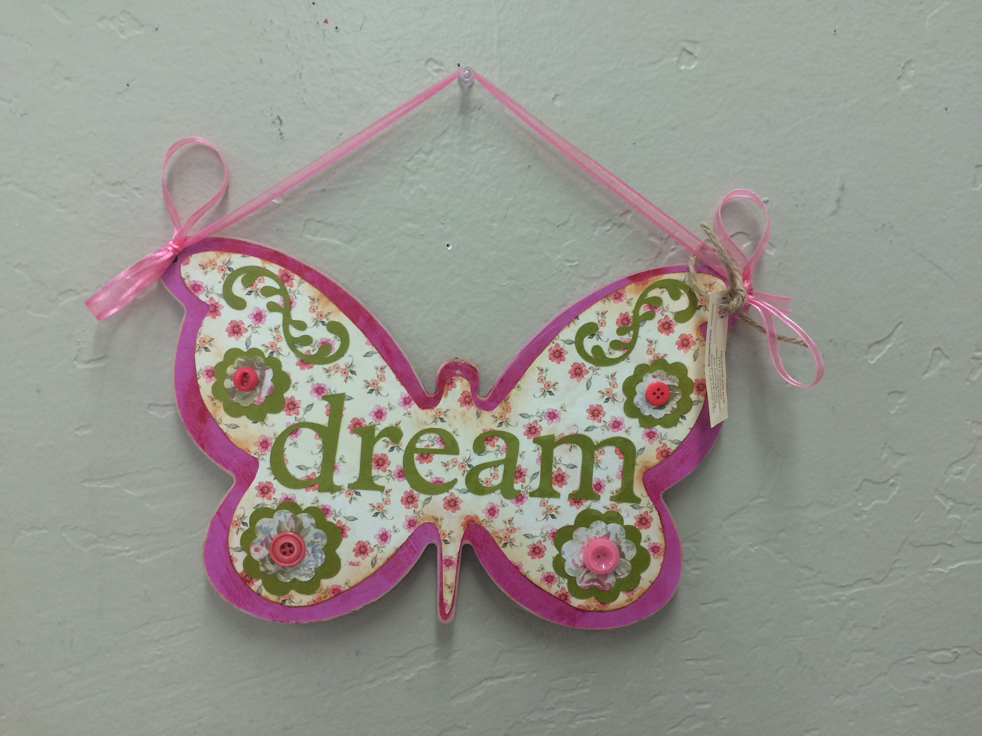 """""""Dream"""" sign handcrafted by adults with intellectual and"""